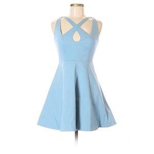 Light Blue Halston Heritage Mini Dress w/ Cutouts